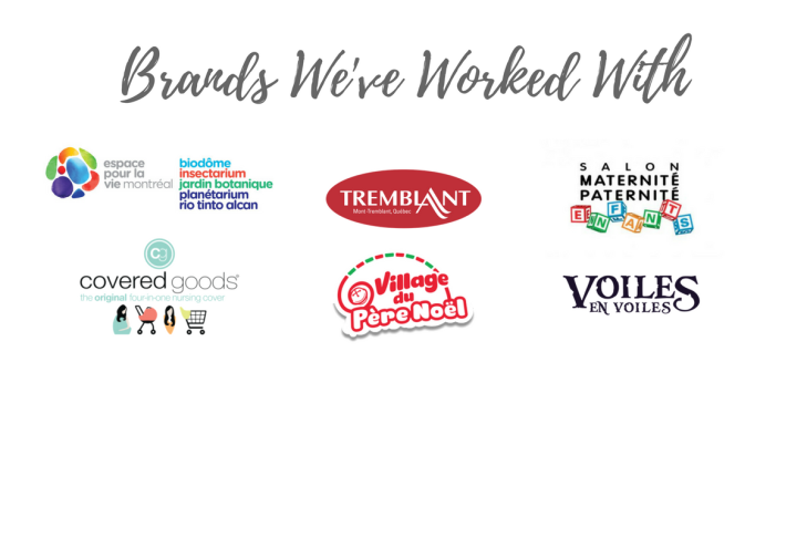 Brands That Montreal Travel Mom Has Worked With