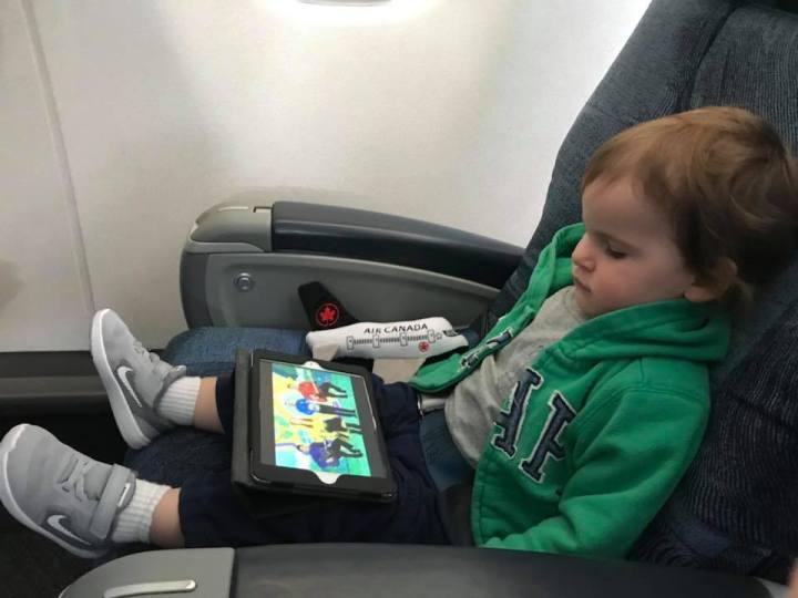Mom Shaming  My Kid Using an iPad on aPlane