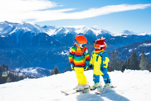 Children Skiing